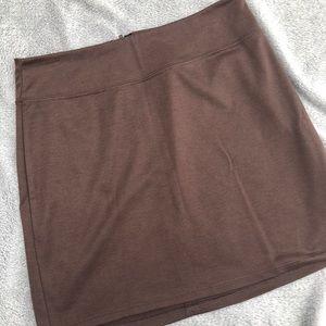 silence and noise brown mini skirt